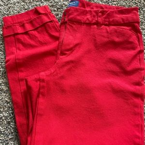 Red old navy Pixie pants